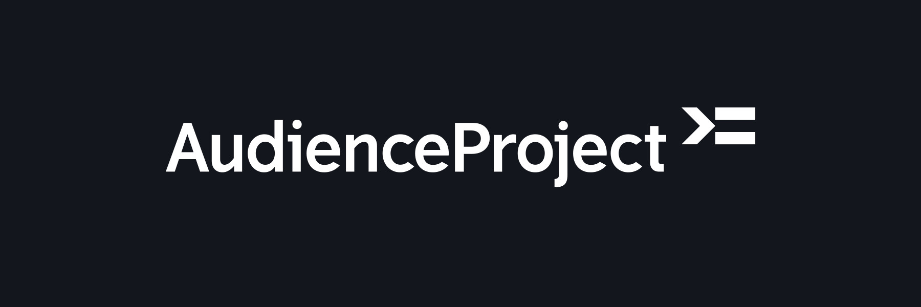 AudienceProject logo in black on white